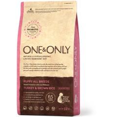 One & Only Turkey & Rice PUPPY All Breeds - Индейка с рисом для щенков всех пород - 12 кг
