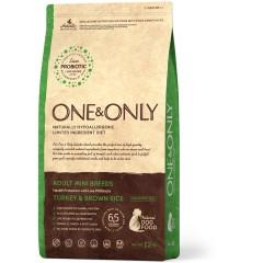 One & Only - Turkey & Rice Adult MINI Breeds - Индейка с рисом для взрослых собак мелких пород - 3 кг