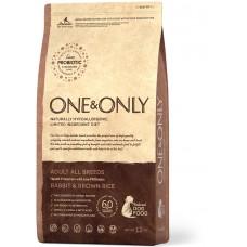 One & Only - Rabbit & Rice Adult All Breeds - Кролик с рисом для взрослых собак всех пород - 12 кг