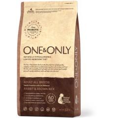 One & Only - Rabbit & Rice Adult All Breeds - Кролик с рисом для взрослых собак всех пород - 1 кг