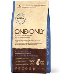 One & Only White fish & Rice Adult All Breeds - Белая рыба с рисом для взрослых собак всех пород - 1 кг