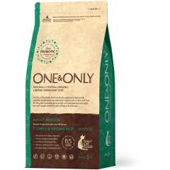 One & Only Turkey & Rice Adult INDOOR - Индейка с рисом для домашних кошек - 2 кг
