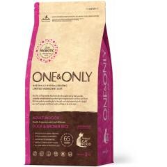 One & Only Duck & Rice Adult INDOOR - Утка с рисом для домашних кошек - 400 г