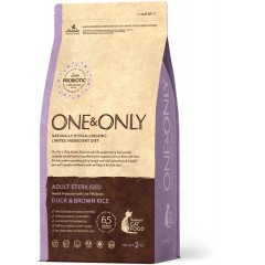One & Only Duck & Rice Adult STERILIZED - Утка с рисом для стерилизованных кошек - 2 кг
