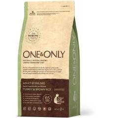 One & Only Turkey & Rice Adult STERILISED - Индейка с рисом для стерилизованных кошек - 2 кг