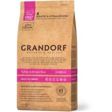 Корм Grandorf для взрослых собак всех пород: индейка с рисом - 1 кг