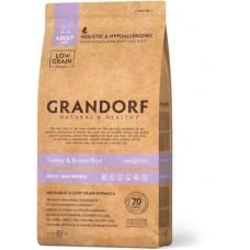 Корм Grandorf для взрослых собак мелких пород: индейка с рисом - 1 кг