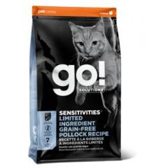 Корм GO! беззерновой для котят и кошек с чувствительным пищеварением, с минтаем, Sensitivity + Shine Grain Free Pollock Cat Recipe - 3,63 кг
