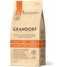 Корм Grandorf для стерилизованных кошек: индейка с рисом - 2 кг