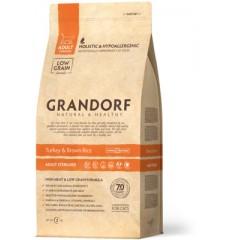 Корм Grandorf для стерилизованных кошек: индейка с рисом - 400 г