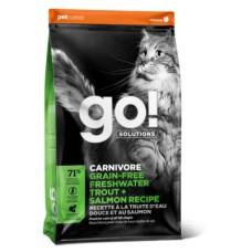 Корм GO! беззерновой для котят и кошек с чувствительным пищеварением с форелью и лососем, Solutions Carnivore Freshwater Trout + Salmon - 7,26