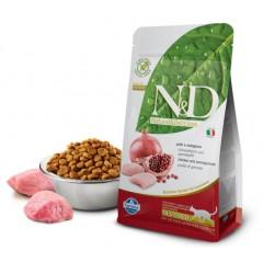 N&D Cat Chicken & Pomegranate Neutered - 0,3 кг - Курица, гранат - Полнорационное питание для взрослых кастрированных кошек