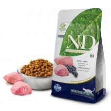 N&D Cat Lamb & Blueberry Adult - 5 кг - Ягненок, черника - Полнорационный корм для взрослых кошек