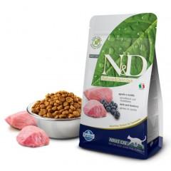 N&D Cat Lamb & Blueberry Adult - 0,3 кг - Ягненок, черника - Полнорационный корм для взрослых кошек