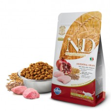 N&D Low Grain Cat Chicken & Pomegranate Neutered - 0,3 кг - пельта, овес, курица, гранат. Полнорационное питание для взрослых  кастрированных кошек.