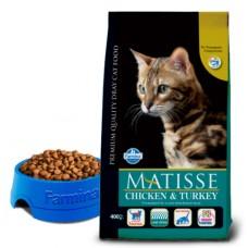 Matisse Chicken & Turkey - 0,4 кг - полнорационный и сбалансированный корм для взрослых кошек.