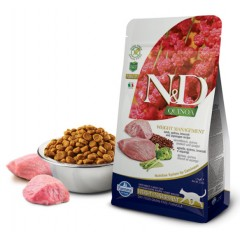 N&D Cat Quinoa Weight Management Lamb - 0,3 кг - Ягненок, киноа, брокколи и спаржа. Контроль Веса.