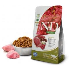 N&D Cat Quinoa Urinary Duck - 0,3 кг - Утка, киноа, клюква и ромашка. Профилактика мочекаменной болезни для взрослых кошек