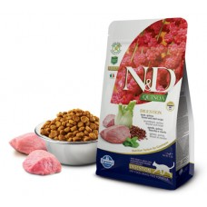 N&D Cat Quinoa Digestion Lamb - 1,5 кг - Ягненок, киноа, фенхель и мята. Поддержка пищеварения