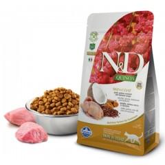 N&D Cat Quinoa Skin&coat Quail - 0,3 кг - Перепел, киноа, кокос и куркума. Здоровье кожи и шерсти