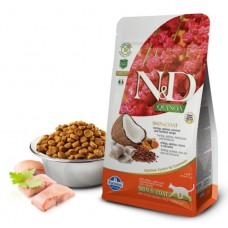 N&D Cat Quinoa Skin&coat Herring - 0,3 кг - Сельдь, киноа, кокос и куркума. Здоровье кожи и шерсти.