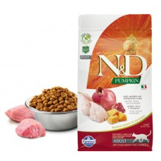 N&D Cat GF Pumpkin Quail - 1,5 кг - Перепел, тыква и гранат. Полнорационный сухой корм для взрослых кошек.