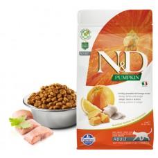 N&D Cat GF Pumpkin Herring - 1,5 кг - Сельдь, тыква и апельсин. Для взрослых кошек.