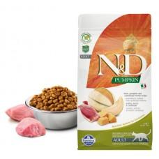 N&D Cat GF Pumpkin Duck - 1,5 кг - Утка, тыква и мускусная дыня. Для взрослых кошек.