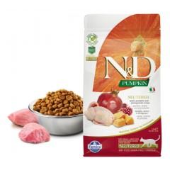 N&D Cat GF Pumpkin Neutered Quail - 0,3 кг - перепел, тыква и гранад - полнорационный корм для стерилизованных кошек и кастрированных котов