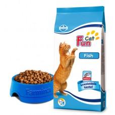 Fun Cat Fish - 2,4 кг - Рыбный полнорационный и сбалансированный корм  для взрослых кошек