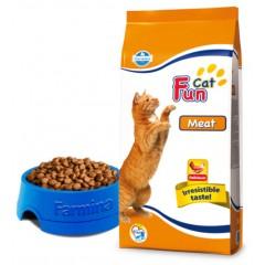 Fun Cat Meat - 2,4 кг - Мясной полнорационный и сбалансированный корм  для взрослых кошек.