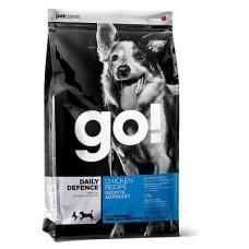 Корм GO! NATURAL Holistic для щенков и собак с цельной курицей, фруктами и овощами - 11,35 кг - DAILY DEFENCE™ Chicken Dog Recipe