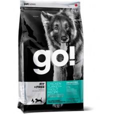 Корм GO! NATURAL Holistic беззерновой для собак всех возрастов 4 вида мяса: индейка, курица, лосось, утка, Fit + Free Grain Free All life Stages