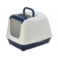 Туалет-домик Jumbo с угольным фильтром, 57х44х41см, черничный, Flip cat 57 cm