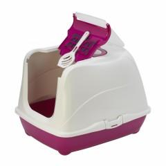 Туалет-домик Jumbo с угольным фильтром, 57х44х41см, ярко-розовый, Flip cat 57 cm