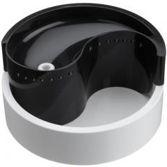 Fung Shui - Питьевой фонтан для животных, черный/белый, пластмассовый - 1,8 л