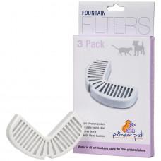 Сменные угольные фильтры для фонтанов Rain Drop, Bix Max в плаcтиковом корпусе - 3 шт