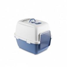 Туалет-домик Cathy Comfort с угольным фильтром и совочком, голубой, 58х45х48 см