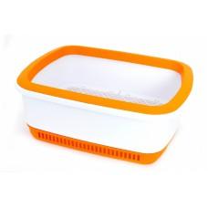 Кошачий туалет с системой защиты от запаха CatEco - оранжевый
