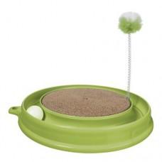 Когтеточка PLAY-N-SCRATCH круглая, зеленая