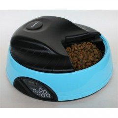 FEED-EX PF1B Автоматическая кормушка для кошек и собак с емкостью для льда или воды с ЖК дисплеем для любого вида корма (голубая)