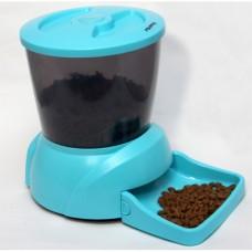 FEED-EX PF7B Автоматическая программируемая кормушка для кошек и мелких пород собак с ЖК дисплеем для сухого корма (цвет - голубой)