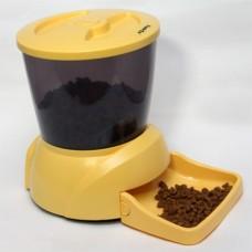 FEED-EX PF7Y Автоматическая программируемая кормушка для кошек и мелких пород собак с ЖК дисплеем для сухого корма (Цвет желтый)