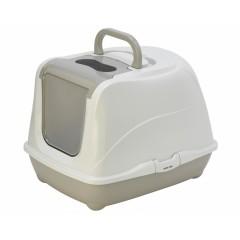 Туалет-домик Jumbo с угольным фильтром, 57х44х41см, теплый серый, Flip cat 57 cm