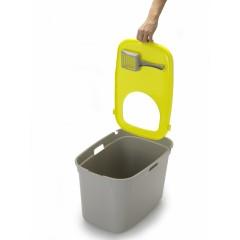 Закрытый туалет для кошек Top cat, серый с лимонно-желтым, 59x39x38 см