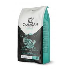 CANAGAN Grain Free, FREE-RUN TURKEY DENTAL, корм для собак всех возрастов и щенков, Индейка, с добавкой для ухода за полостью рта - 2 кг