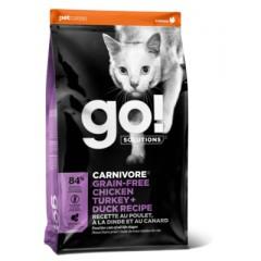 "Корм GO! беззерновой для котят и кошек ""4 вида мяса: курица, индейка, утка и лосось"", Fit + Free Grain Free Chicken, Turkey, Duck Cat Recipe -  3,63 кг"