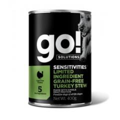 Go! консервы беззерновые с индейкой для собак, GO! Grain Free Turkey Stew DF - 400г