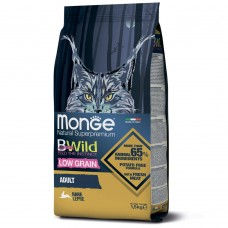 Monge Cat BWild LOW GRAIN низкозерновой корм из мяса зайца для взрослых кошек 1,5 кг