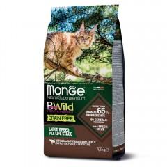Monge Cat BWild GRAIN FREE беззерновой корм из мяса буйвола для крупных кошек всех возрастов 1,5 кг